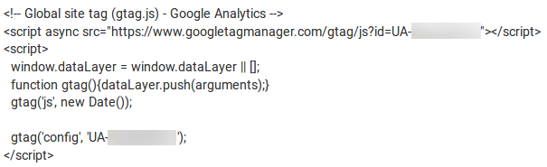 Код Google Analytics